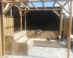 Luxe tuinbank steigerhout